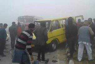 road accident due to fogg on barnala road