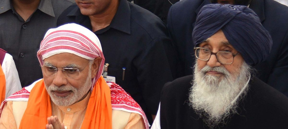 pm narendra modi and parkash singh badal