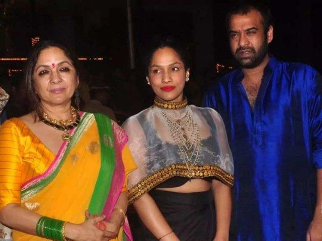 nina gupta with family