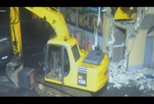 Atm theft with the help of crane