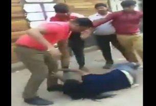 group of boys beaten a girl