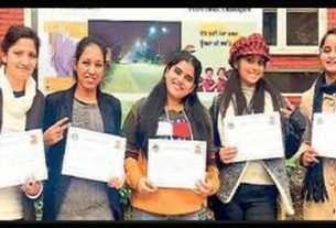 students-of-ramgarhia-girls-college-took-second-prize-in-graffiti-competition