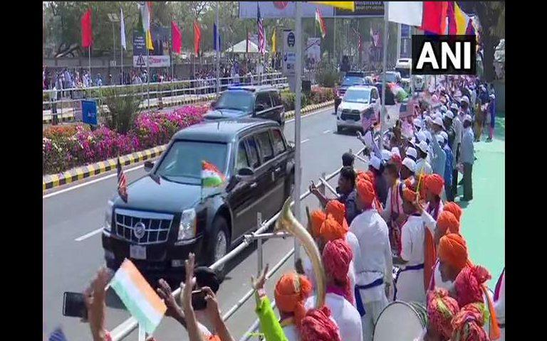 Donald Trump India Visit 2020: ਅਹਿਮਦਾਬਾਦ ਵਿੱਚ PM Modi ਅਤੇ Donald Trump ਦਾ ਰੋਡ ਸ਼ੋਅ
