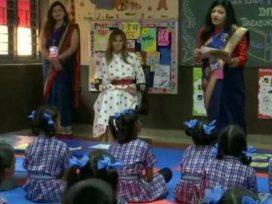 melania-trump-visit-happiness-school-delhi