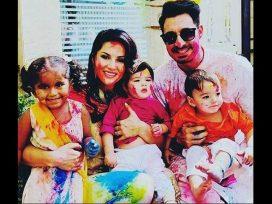 sunny-leone-holi-celebration-with-her-kids-and-husband-holi-photos