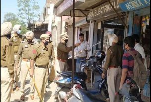 Police Strictness in Ludhiana Due to Punjab Lockdown
