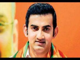Gambhir donates 50 lakh in CM Relief Fund Slams AAP