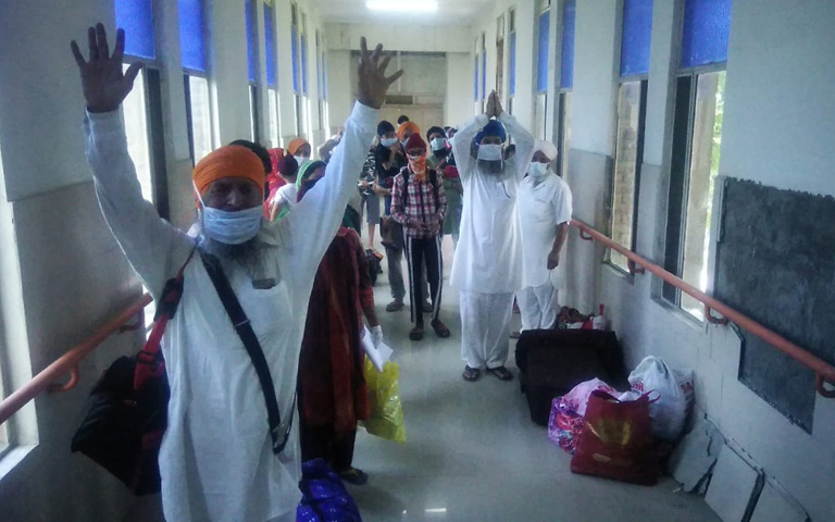 95 Sikh devotees defeats Corona Virus and return home