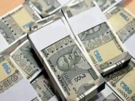 500 rs note bundles indian currency