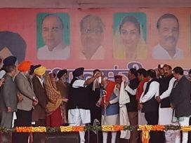 sukhbir badal in modis rally
