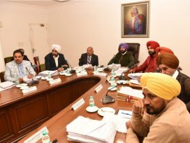 Punjab Cabinet meeting headed by capt amarinder singh on smartphone distribution