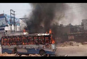 bus burnt in ludhiana