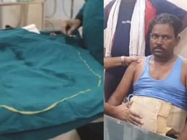 6 foot long tapeworm in stomach of indian man